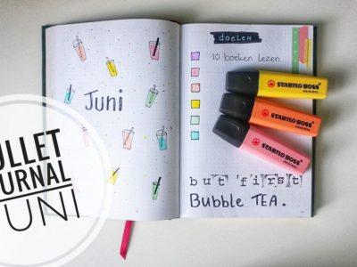 Bullet Journal Juni | Indeling