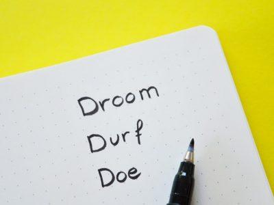Update: instacursus droom, durf, doe