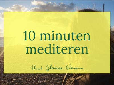 30 dagen challenge: 10 minuten mediteren